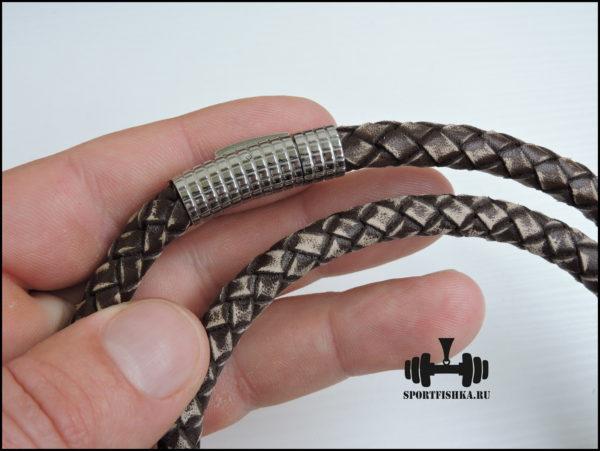 Античная кожа шнурок плетеный