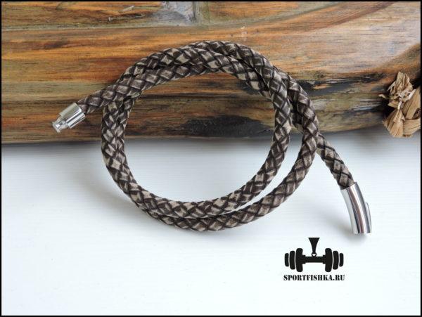 Античный кожаный шнурок 6 мм