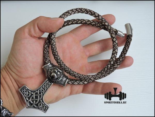 Кожаный шнурок античный стиль