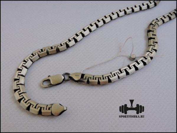 Сколоченный якорь цепочка из серебра