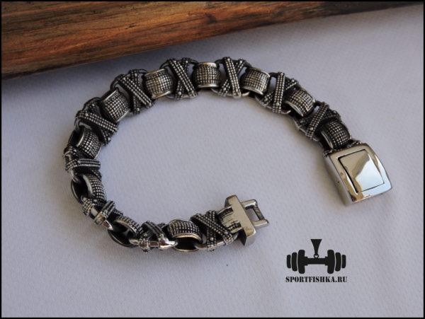 Браслет из стали для мужчин фото 01