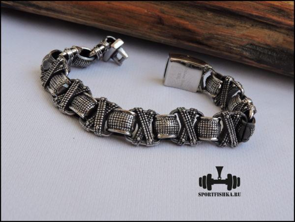 Браслет из стали для мужчин фото 02