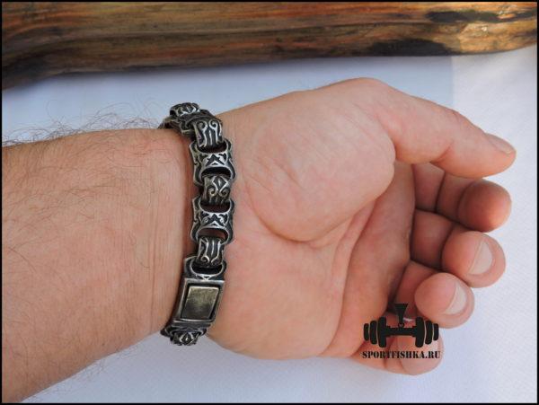 Браслет из стали для мужчин фото 03