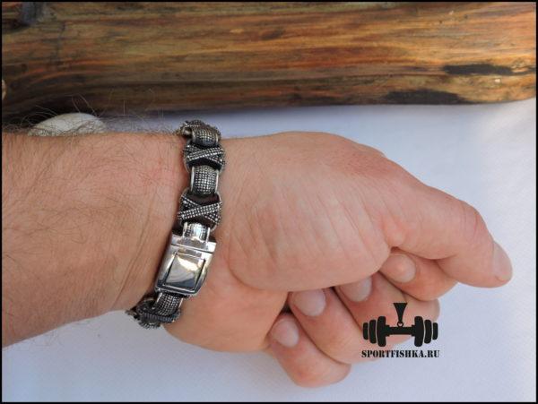 Браслет из стали для мужчин фото 07