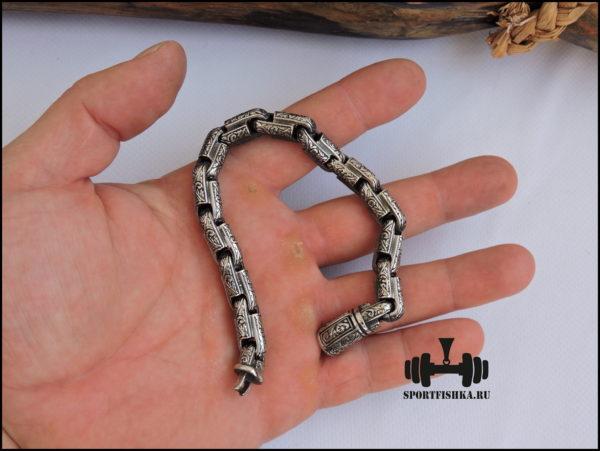 Круглый браслет из хирургической стали фото 02