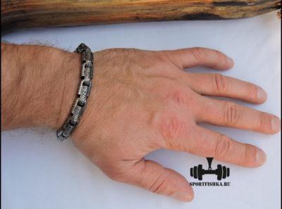 Круглый браслет из хирургической стали фото 06
