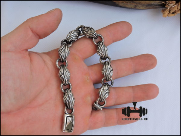Необычный браслет из нержавеющей стали фото 02