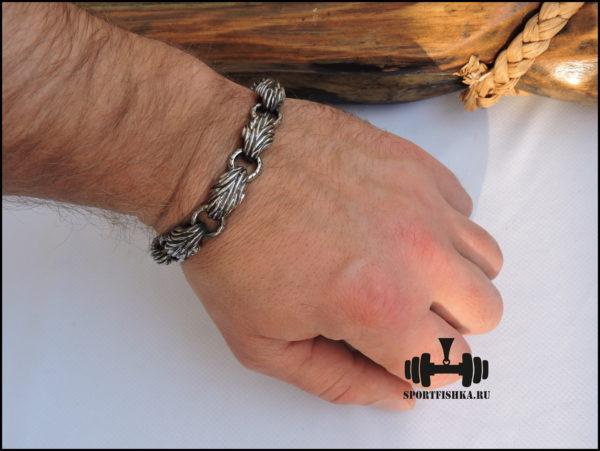 Необычный браслет из нержавеющей стали фото купить
