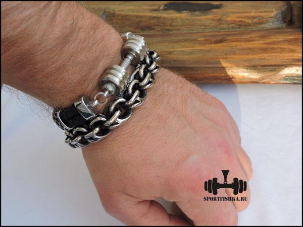 новогодние подарки спортсмену браслеты из стали и кожи