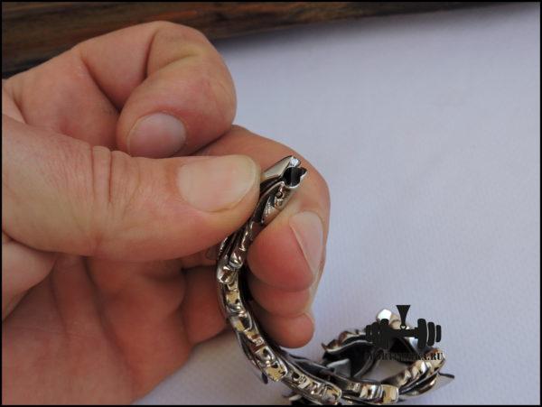 Оригинальный браслет из нержавеющей стали фото 04