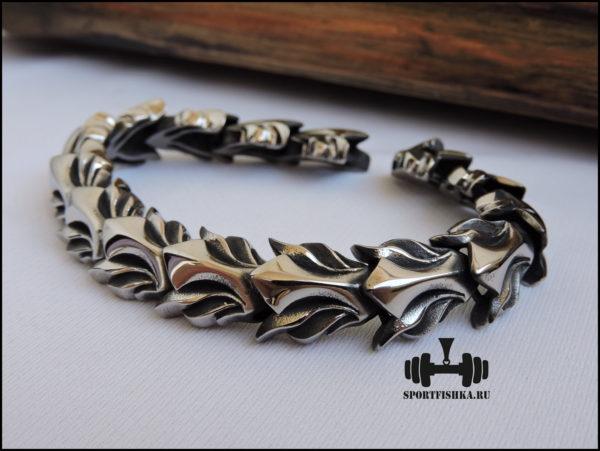 Оригинальный браслет из нержавеющей стали фото