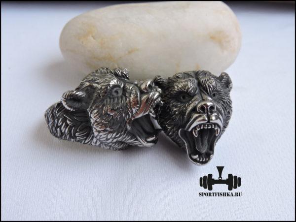 Кольцо с медведем нержавеющая сталь