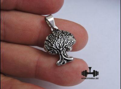 Дерево жизни кулон из стали