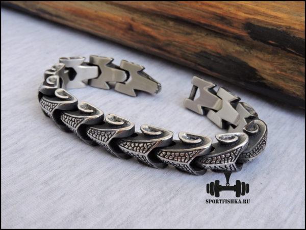 Стальной мужской браслеты