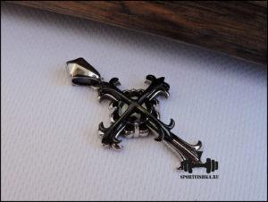 Крест черный на цепочку