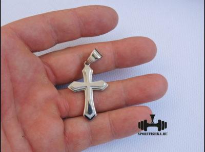 Крестик из стали для цепочки