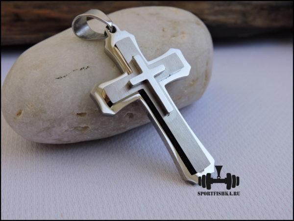 Крестик из стали средний
