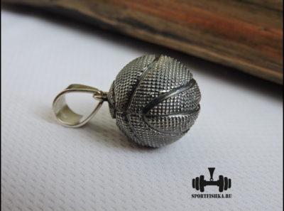 Кулон серебряный баскетбольный мяч