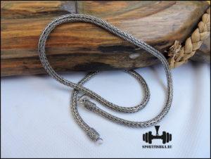 Мужская цепочка из серебра фото