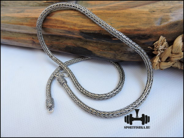 Цепочка серебряная фото 60 см