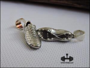 Бутса из серебра подарок футболисту