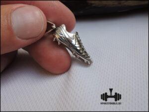 Бутса серебряный кулон подарок футбольному тренеру