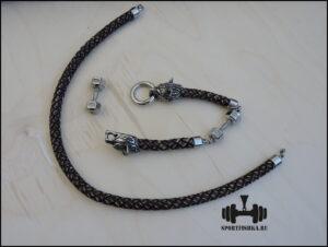 Кожаный шнур с застежкой волки