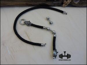 кожаный шнурок с замком волки