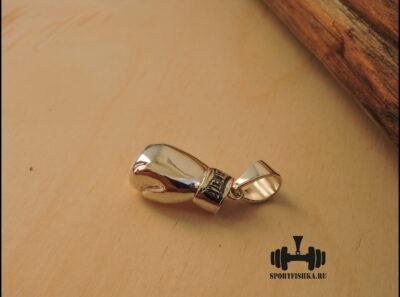 Кулон правая боксерская перчатка серебро