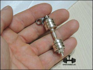 серебряный брелок, подарки для спортсменов