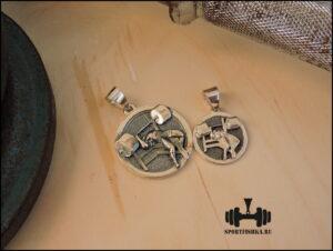 Спортивные кулоны подарки из серебра и стали