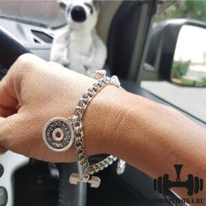 Фото подарок спортсмену на новый год серебряный браслет