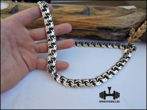 Бисмарк плетение, толстая цепочка