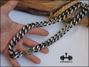 Большая цепочка панцирного плетения 300 гр