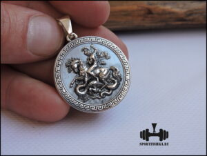 Георгий Победоносец подвеска оберег серебро