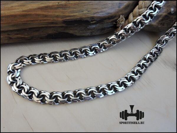 Широкий бисмарк цепочка из серебра