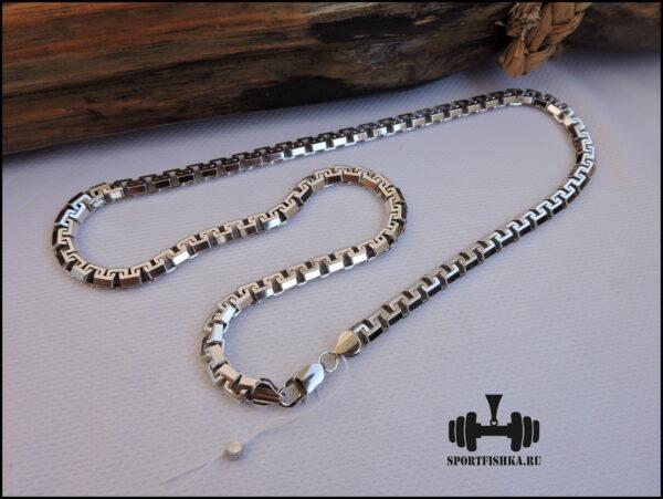 Сколоченный якорь цепочка серебро